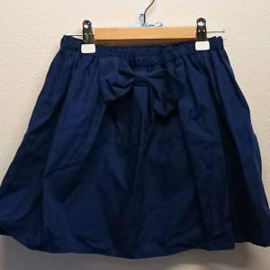 【Saana Gallery】 キッズフレアスカート ウエストゴム リボン付き ネイビー 【メール便対応】|shopfreddo