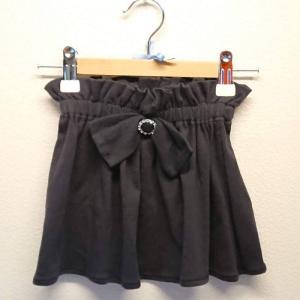 【Saana Gallery】 キッズスカート リボン 黒 s03-034 【メール便対応】|shopfreddo