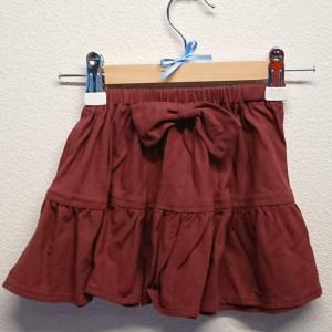 【Saana Gallery】 キッズスカート リボン ワインレッド s03-035 【メール便対応】|shopfreddo