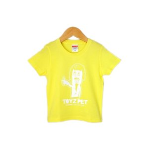 【TOYZ PET】 ロゴ キッズTシャツ レモンイエロー 【メール便対応】|shopfreddo