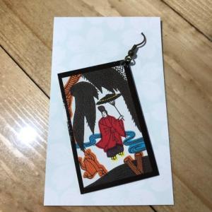 【座敷童子の住む家に】 ピアス '- 花札/片耳 [4] 【メール便対応】 shopfreddo