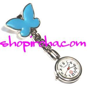 ナースウォッチアゲハ蝶shopiroha.com送料無料  服に止められて文字盤が逆さのナースウォッ...