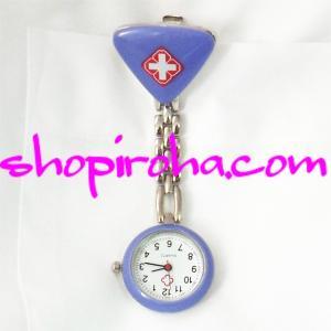 ナースウォッチ 紫色 三角 文字盤が逆さ クリップ 簡単取り外し 看護師さん 介護士さん 必見の時計...