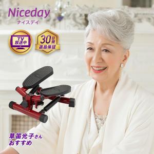 健康ステッパー ナイスデイ ショップジャパン公式 足踏み健康器具 運動器具 腰 トレーニング 筋力トレーニング 筋トレ ナイスデー ナイスディ