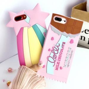 2efc28d075 iPhone ケース カバー 8 7 6 6s plus チョコレート チョコ 流れ星 星 スター キュート カワイイ ポップ カラフル sd-0162