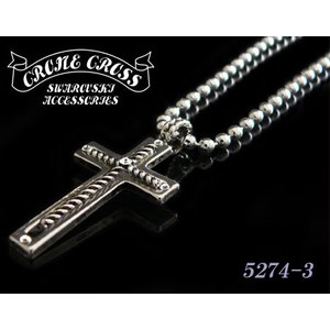 CRONE CROSS スワロフスキーネックレス 5274-3|shopkazu