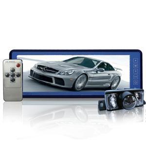 10.2インチ タッチボタン TFT LCD バックミラーモニター + CMOS 夜間可視バック カメラ セット|shopkazu