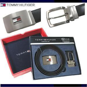 TOMMY HILFIGER トミーヒルフィガー ベルトセット 2パターンバックル リバーシブル 08-4182/17|shopkazu