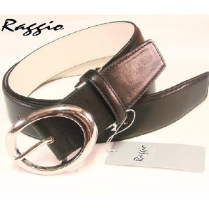 Raggioラッジオ イタリアンレザー ベルト 11301 ブラック|shopkazu