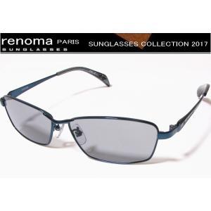 renoma(レノマ)サングラス 2017年モデル ネイビー(ブラック)×スモークオール 20-1139-COL-2|shopkazu
