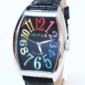 フランク三浦 復活!!新もで る Frank MIURA 腕時計 レインボーブラック FM06K-CRB|shopkazu