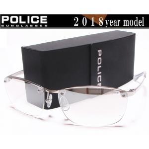 POLICE ポリス サングラス 2018年ニューモデル  SPL745J-583X ミラーハーフ チタン製  国内正規品|shopkazu
