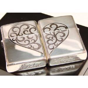 Zippo ジッポ (ペア ジッポ) ラブシャイニングペアA  ハートペア Heart pair|shopkazu