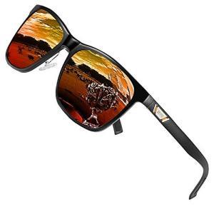 DUCOメタルクラシック偏光サングラス UV400 保護屋外スポーツ3029H (オレンジ)