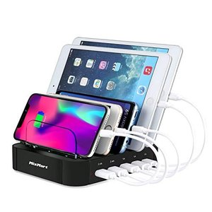 MixMart 5ポート 充電スタンド USB充電器 5台同期 急速充電 充電ステーション デスクト...