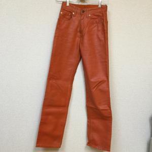LEVI STRAUSS&CO. LEVI'S リーバイス552 オイルコーティング パンツ デニム W24 L32 オレンジ|shopkoyomi