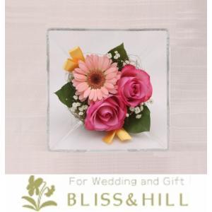 【送料無料】【代引き配送・ギフト対応 不可】 Bliss&Hill  グラスフラワー Sサイズ【JS-G】 W14.3  H14.3  D8.6cm 【日本製】|shopkurasu