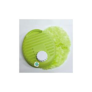 湯たんぽ ポリ湯たんぽプチ ふわふわカバーセット 0.9L グリーン カラフルゆたんぽ (TPK-1071W) |shoploop