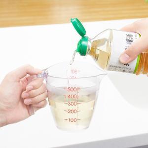 マーナ キッチン 目盛りが見やすい計量カップ 500mL (クリア) K728 注ぎやすい 液だれし...