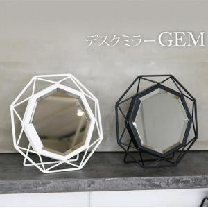 ■商品名:デスクミラー GEM BK(黒)■サイズ:28W*D4*H28m■重量:1.2kg■ミラー...