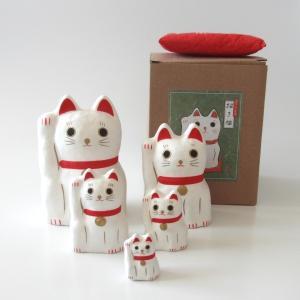 (送料無料)はりこーシカ 招き猫 (白) shopnext