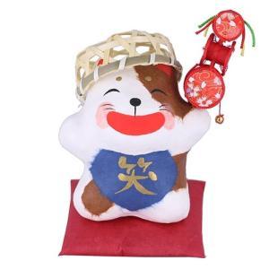 (送料無料)干支(戌・いぬ)の張り子・笑福犬 shopnext