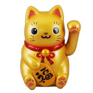 (送料無料)ソーラー招き猫 金の大猫ちゃん|shopnext