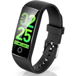 Semiro スマートブレスレット カラースクリーン 最新版 スマートウォッチ 活動量計 歩数計 血圧計 心拍計 スマートブレスレット 防水 shopnoa