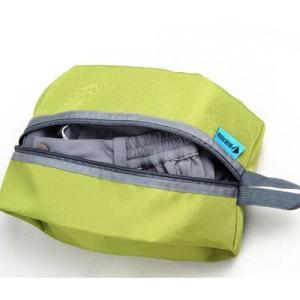防水加工 3枚入り 収納袋 グレー オレンジ グリーン (靴、衣服、食糧入れ) 旅行、アウトドア、カッパ、登山 shopnoa