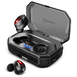 進化版 Bluetooth 5.0 IPX7完全防水 Bluetooth イヤホン 高音質 両耳 自動ペアリング 自動ON/OFF 90時間|shopnoa