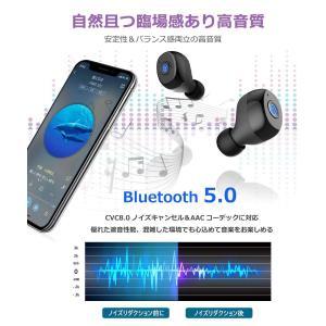 Bluetooth 5.0強化版 Bluetooth イヤホン 高音質 IPX7防水 完全 ワイヤレス イヤホン 自動ペアリング 自動ON/|shopnoa
