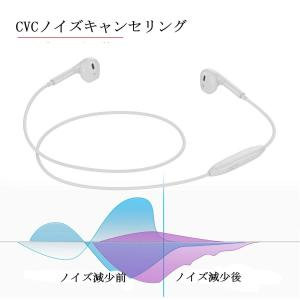 Bluetoothイヤホン ブルートゥースイヤホン マイク付き 高音質 防汗防滴 スポーツイヤホン iPhone XS,XR,X / 8/7|shopnoa