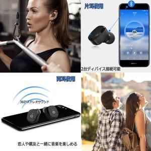 完全ワイヤレス イヤホン Bluetooth 5.0 小型 軽量 高音質 SIRI起動 2台接続可 ブルートゥース イヤホン スポーツ 自動 shopnoa