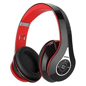 Mpow 密閉型 Bluetooth ヘッドホン 赤黒灰緑青桃銀7種色付き 高音質 20時間再生 折りたたみ式 ケーブル着脱式 バランス接続 shopnoa