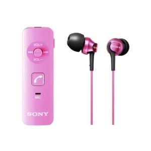 SONY カナル型ワイヤレスイヤホン Bluetooth対応 マイク付 ピンク DRC-BTN40K/P|shopnoa