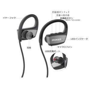 無線ブルートゥース・ヘッドフォン、proker IPX7防水 Bluetooth4.1を採用し、iPhone,iPad, Samsung,|shopnoa