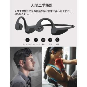 Bluetooth5.0進化版 イヤホン 骨伝導ヘッドホン 超軽量 高音質 ワイヤレス スポーツ ヘッドセットマイク内蔵 耐汗 iPhone|shopnoa