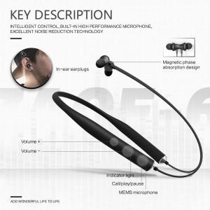Bluetoothイヤホンマイク付きネックバンド式ワイヤレススポーツイヤホン騒音抑制軽型ジム&トレーニング用|shopnoa