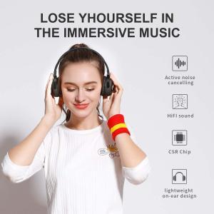 アクティブなノイズキャンセルBluetoothヘッドフォン新しいビー70HプレイタイムANCワイヤレスヘッドフォン(マイク付き)Siri V|shopnoa