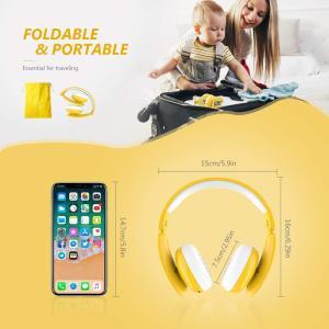 MindKoo 子供用ヘッドホン Bluetooth キッズ ヘッドホン ワイヤレス ヘッドセッド 折り畳み式 ボリューム制限 有線無線兼用|shopnoa