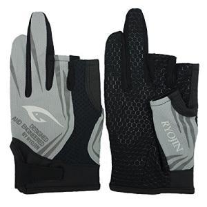 フィッシンググローブ 釣り用手袋 3本カット 春夏用 (グレー, LL)|shopnoa