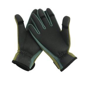 釣り手袋 釣りグローブ 指切り 指3本出す フィッシング グローブ 滑り止め 防寒 手袋 調節可能 (M)|shopnoa