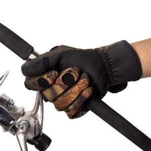 Powerful改良版釣り手袋 迷彩 フィッシング グローブ スポーツグローブ 指3本出す 防水 防寒 保温 防風 滑り止め 調節可能 自転|shopnoa
