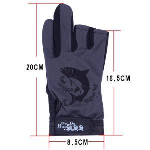 Agepoch グローブ ライト 3本指 カット スポーツ フィッシング グローブ 手袋 滑り止め付 (グレー)|shopnoa