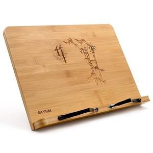 EAYHM ブックスタンド ブックホルダー 折りたたみ 書見台 本立て 竹製book stand 卓上筆記台 5段階角度調整 肩こり消し&近|shopnoa