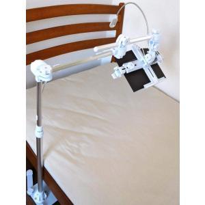 寝ながら読書/タブレット 頭上/横置 ベース式 ライト付|shopnoa