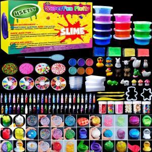 HSETIY slime kitフリースライムおもちゃ、ふわふわスライム香りストレスリリーフバブルガムフレグランス shopnoa