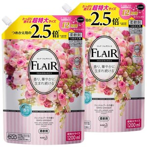 まとめ買いフレアフレグランス 柔軟剤 ジェントル&ブーケの香り 詰め替え 大容量 1200ml×2個|shopnoa