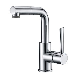 CREA 洗面蛇口 浴室用水栓 引き出せる 伸縮 360度回転 蛇口台付 混合水栓 シングルレバー混合栓 2wayの吐水式 泡沫水流 シャワ|shopnoa