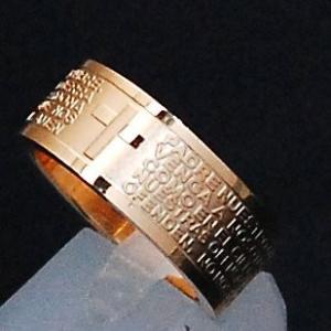 聖書の一節 デザイン クール デザイン ローズゴールド サージカル ステンレス リング 指輪 (19...